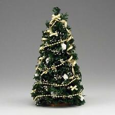 SALE Doll House Shoppe White Gold Ultimate Christmas Tree dhs4794 Miniature 1:12