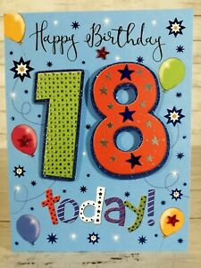 Eighteen 18 Years Old, Birthday Card, 3d Effect Handmade