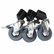 3pcs Heavy Duty Universal Caster Wheels For Light Stand Photography Studio Boom