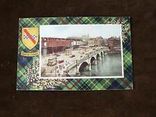 Vintage Valentine's Postcard: Hunting Stewart Tartan, Jamaica Bridge, Glasgow