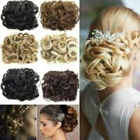 Combs Clip In Elastic Net Curly Hair Bun Chignon Updo Cover Hair Extension v