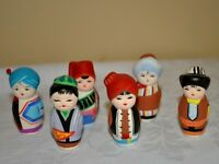 Chinese People Figures LOT Set of 6 Traditional Painted Ceramic figurines