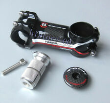 Carbon 3K MTB Road Bike stems 31.8*60/70/80/90/100/110mm bar Stem 7° Top cap Red