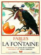 BOOK COVER FABLES DE LA FONTAINE CROW WAISTCOAT NEW ART PRINT POSTER CC4932