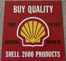 Retro Shell Gasoline SU 2000 Products Sign Oil Tires Batteries Petroliana NOS