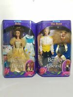 Vintage Mattel 1991 Disney's Beauty And The Beast Barbie Belle And The Beast Set