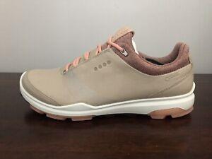 ECCO Women's Golf BIOM Hybrid 3 Shoes Gore Tex Size 8-8.5 (EU 39) Oyester/Clay