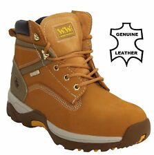 MENS WOOD WORLD SAFETY STEEL TOE WATERPROOF WORK BOOTS SIZE UK 7 8 9 10 11 12 13