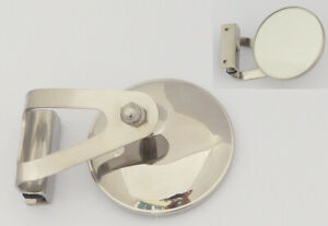Austin / BMC Classic Mini Stainless Steel LH Clamp-On Circular Overtaking Mirror