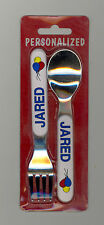 Personalized Fork & Spoon Set  ~ JARED ~ Stocking Stuffer ~ Balloons ~ Gift