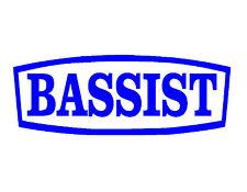 BASSIST VINYL WINDOW DECAL BLUE 3X8 ACOUSTIC ELECTRIC BASS GUITAR MUSICIAN