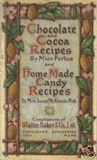 Bakers Chocolate & Cocoa Recipes Vintage CANDY Cookbook Miss Parloa 1905 REPRINT