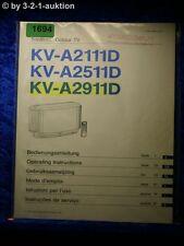 Sony Bedienungsanleitung KV A2911D /A2511D /A2111D Color TV (#1694)