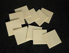 LOT OF TWO - (2)  HIGH THERMAL CONDUCTIVITY SQUARE ALUMINUM NITRIDE SUBSTRATE