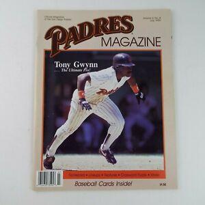 1989 Baseball San Diego Padres Magazine July Volume 3 No.4 Tony Gwynn W/ Cards