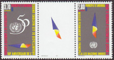 French Andorra #457a MNH Pair CV$2.75 UN Flag