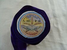 Antique French Unused Purple Satin Ribbon 8m80 The Beautiful Ribbons France