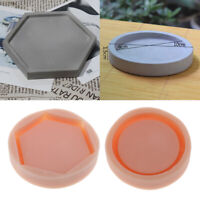 Silicone Concrete Plant Flower Pot Tray Holder Mold DIY Soap Candle Mould