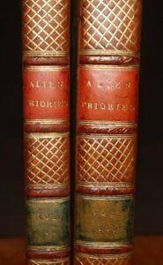 1786 Account of Alien Priories & 1779 History Abbey of Bec 3 Vols in 2 WARBURTON