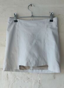 Museum White Leather Mini Skirt Size 0