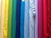 "Plain Poly cotton pre shrunk Dress Fabric  £2.75/m: 44""/1.12metres wide"