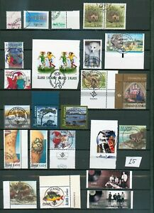 Aland (0) 25 Briefmarken siehe Abbildung