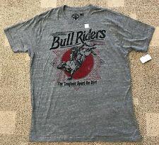 Affliction Live Fast Short Sleeve T Shirt Gray Size 4XL XXXXL Bull Riders