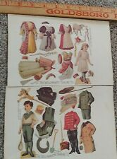 """Antique Advertising Paper Doll Lot """"The Willimantic Thread Co. Victorian sewing."""