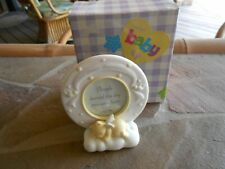 Heavenly Moments Porcelain Baby's Baptism Frame - New In Box