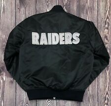 Vintage STARTER NFL Oakland Los Angeles Las Vegas Raiders Satin Jacket Med EUC