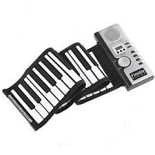 Roll-Up 61 MIDI Soft Key Synthesizer Electronic Piano Keyboard Mic Excellent