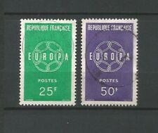 France 1959 EUROPA Y&TN°1218 & 1219 2 timbres oblitérés /T6803