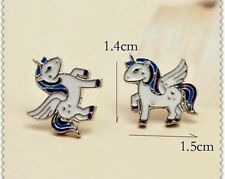 Unicorn pegasus head horse fantasy earrings studs birthday Christmas 225