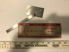 Vintage Craftsman No 4029 Stainless Steel 0 - 180 degree Protractor. Square Head