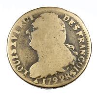 Monnaie Royale France Louis XVI 2 sols Constitution dit au faisceau