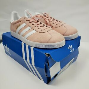 New adidas Gazelle OG Pink White Lace Up BB5472 Mens Sneakers Shoes Suede 9M