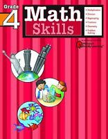 NEW - Math Skills: Grade 4 (Flash Kids Harcourt Family Learning)