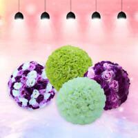 Silk Rose Pomander Flower Kissing Ball Wedding Bouquet Party Home Decoration dfh