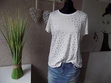 Tamaris Shirt Print weiß goldfarben Gr. 40 NEU (48a)