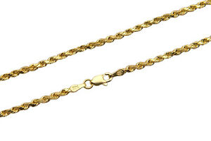 """14k Yellow Gold 1.5mm-2.5mm Italy Rope Chain Twist Link Necklace 16""""-30"""""""