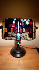 Tischleuchte im Tiffany-Stil  Libelle bunt Tischlampe Trio Leuchten kippbar