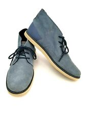 Men's Volcom Shoes US Size 12 M Blue Suede Upper - Mid-Top Lace-Up V4021505 New