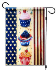 """New American Flag with Cupcakes Garden Flag 12""""X18"""" Patriotic Decorative Flag"""