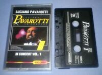 LUCIANO PAVAROTTI IN CONCERT VOL 1 PAPER LABELS cassette tape album T6045