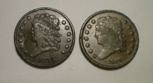 1833 AND 1835 HALF CENT