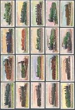 1912 Lambert & Butler World's Locomotives Tobacco Cards Complete Set of 50