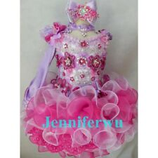 High glitz national Infant/toddler/baby/children/kids Girl's pageant Dress G016A
