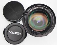 Minolta MD 85mm f2  #8008718