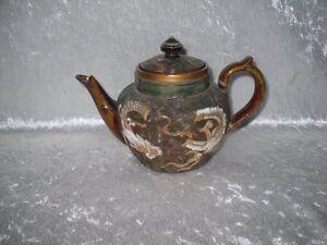 **RARE** Doulton Lambeth Chinese Serpent/Dragon Miniature Teapot (Royal)