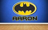 BATMAN PERSONALISED COLOUR SUPERHERO wall car sticker decal art 5 sizes graphic